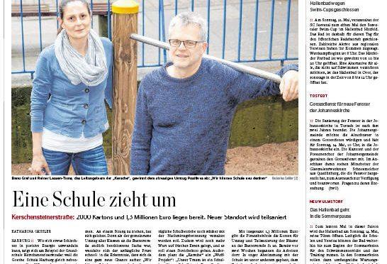 """""""Eine Schule zieht um"""" HH Abendblatt"""