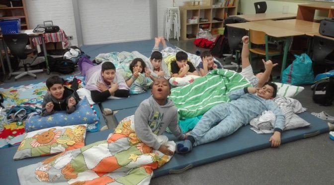 Übernachtung der IVK 3/4 in der Schule