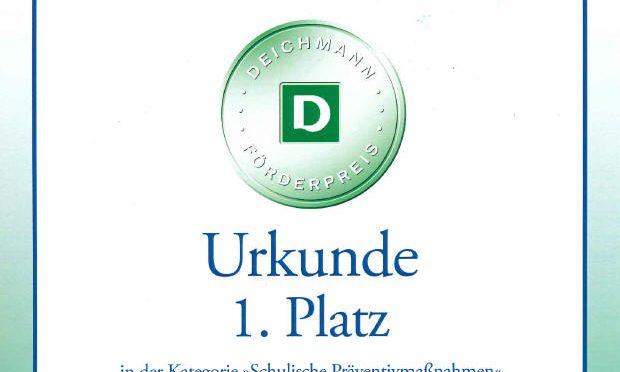 1. Platz beim DEICHMANN-Förderpreis für Integration